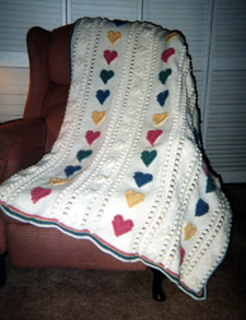 Crochet heart afghan pattern crochet club over 200 free crocheted afghan patterns dt1010fo